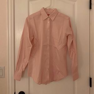 Brooks Brothers Women Baby Pink Button Down Blouse